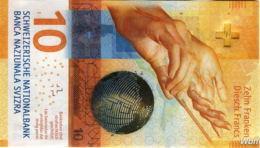 Suisse 10 Francs (P75) 2016b (Pref: F) -UNC- - Suiza