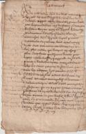 1613 Testament Claude Aluzun Maréchal Du St Esprit (Pont Saint Esprit 5 Pages - Documents Historiques