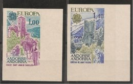 ANDORRA FRANCESA// FRENCH ANDORRA// FRANÇAIS ANDORRA - EUROPA 1977 - SERIE  2 V.-  SIN DENTAR  LUJO (IMPERFORATED) - Europa-CEPT