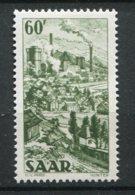 14916 SARRE N° 290 ** 60F Olive  Lansweiler    1951   TB/TTB - 1947-56 Allierte Besetzung
