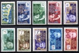 Col17  Colonie AEF Afrique N° 77 à 86  X MH Cote 10,50€ - A.E.F. (1936-1958)