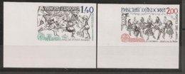 ANDORRA FRANCESA// FRENCH ANDORRA// FRANÇAIS ANDORRA - EUROPA 1981 - SERIE  2 V.-  SIN DENTAR  LUJO (IMPERFORATED) - Europa-CEPT