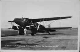 """CPA. > Avions > 1919-1938: Entre Guerres > Cie Hillmans Airways - Avion """"de HAVILAND-DH 86"""" Et Son Pilote - TBE - 1919-1938: Entre Guerres"""