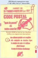 FRANCE - Carnet Conf. 6, Numéro 20384 - 1f00 Béquet Rouge - YT 1892 C3a / Maury 403a - Usage Courant