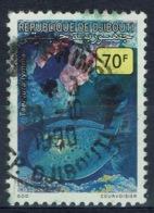 Djibouti, Fish Bluespotted Ribbontail Ray, 1990, VFU  663D - Djibouti (1977-...)