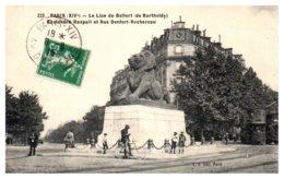 75 - PARIS 14 ème - Le Lion De Belfort - Boulevard Raspail Et Rue Denfert Rochereau - District 14