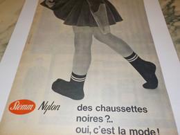 ANCIENNE PUBLICITE  DES CHAUSSETTES NOIRES ET MODE  DE STEMM  1961 - Unclassified