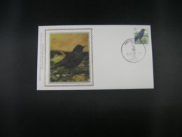 "BELG.1996 2638 FDC Zijde/soie : "" Buzin , Vogels/oiseaux "" - 1985-.. Birds (Buzin)"