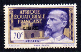Col17  Colonie AEF Afrique N° 111  X MH Cote 1,20€ - A.E.F. (1936-1958)