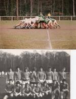 Rugby - 2 Photos D 'une équipe De Jeunes (minimes?) Les Mêmes En Mélée ( Sans Doute L ' US Chantilly ) - Sport