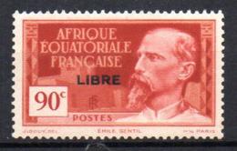 Col17  Colonie AEF Afrique N° 114  X MH Cote 1,40€ - A.E.F. (1936-1958)