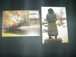 "BELG.1996 2640 & 2641  FDC Maxicards : "" Tourisme "" - FDC"