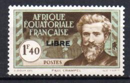 Col17  Colonie AEF Afrique N° 117 Neuf  X MH Cote 1,20€ - A.E.F. (1936-1958)