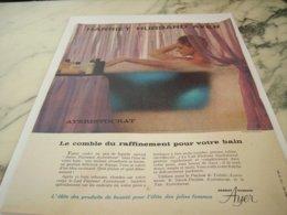 ANCIENNE PUBLICITE RAFFINEMENT POUR VOTRE BAIN HARRIET HUBBARD AYER 1961 - Perfume & Beauty