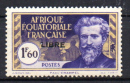 Col17  Colonie AEF Afrique N° 119 Neuf  X MH Cote 1,20€ - A.E.F. (1936-1958)