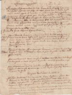 Ardèche, Mémoire Conflit Impot Commandeur De Jalès, Ordre De Malte/Demoiselle De Bidon Et Sieur Arnaud - Historical Documents