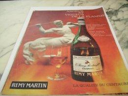 ANCIENNE PUBLICITE COGNAC REMY MARTIN 1961 - Alcohols
