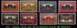 Österreich -  Mi. Nr. 284 - 92 A - Postfrisch/1xUngebraucht - 1850-1918 Imperium