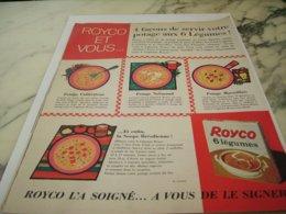 ANCIENNE PUBLICITE VOTRE POTAGE ROYCO 1961 - Posters
