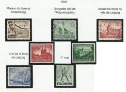 Allemagne N° 663 à 666 + 669 + 673 674 De 1940 - Deutschland