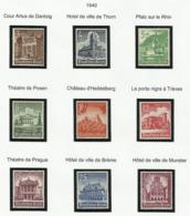 Allemagne N° 675 à 683 De 1940 - Deutschland
