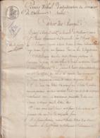 Gard Adjudication Domaine De Valbonne, St Paulet De Caisson/Pont Saint Esprit 1832 - Historical Documents