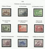 Allemagne N° 654 à 662 Oblitérés De 1939 - Deutschland