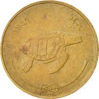 Monnaie, MALDIVE ISLANDS, 50 Laari, 1984, TTB+, Nickel-brass, KM:72 - Maldivas