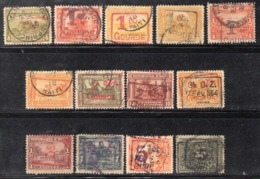 APR2949 - HAITI 1917 , 13 Valori Usati E Soprastampati (2380A) - Haití