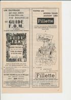 2 Scans Publicité 1956 Guide France Outre-Mer + Fillette Le Journal Des Petites Filles + Banania 223CH22 - Sin Clasificación