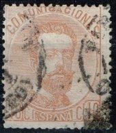 Espagne - 1872 - Y&T N° 124 Oblitéré - 1872-73 Reino: Amadeo I