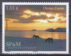 St. Pierre Und Miquelon 2007 Landschaften Landscapes Morgendämmerung Dawn Daybreak Pferde Horses, Mi. 974 ** - Unused Stamps