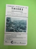 Dépliant Touristique Ancien/Syndicat D'Initiative De THIERS/ Puy De Dôme/Plan De La Ville /vers 1930    PGC391 - Dépliants Touristiques