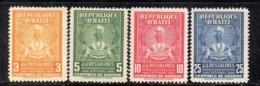 APR2950 - HAITI 1947 , Yvert N. 319/322   *//*  (2380A) - Haiti