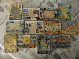 LOT  DE  904  CARTES  POSTALES   CONTOURS DE DEPARTEMENTS ET CARTES  GEOGRAPHIQUES - Cartes Postales
