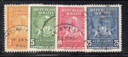 APR2951 - HAITI 1947 , Yvert N. 319/322  Usata  (2380A) - Haiti