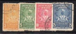 APR2952 - HAITI 1947 , Yvert N. 319/322  Usata  (2380A) - Haiti