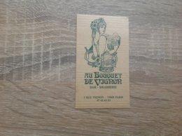 Carte De Visite De Bar Brasserie  Au Bouquet De Vignon  Paris - Cartoncini Da Visita