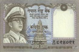 Nepal 1 Rupee (P16) 1972 -UNC- - Nepal