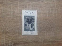 Ancienne Carte De Visite De Bar  Restaurant  Le Capetien  Neuilly - Cartoncini Da Visita