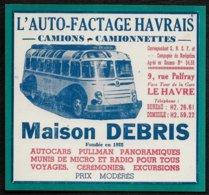 PUBLICITE DE 1951 -- AUTOCARS TRANSPORTS MAISON DEBRIS  LE HAVRE  7A320 - Publicités