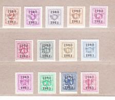 1960 Nr PRE699-11** Zonder Scharnier.Heraldieke Leeuw(53).Opdruk 1960-1961 .OBP 33 Euro. - Préoblitérés