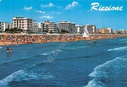 Cartolina Riccione Mareggiata Vista Dal Mare 1977 - Rimini