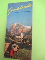Dépliant Touristique Ancien à 6 Volets/Pliage Accordéon/Grindelwald/SUISSE/ Schweiz/Switzerland/vers 1930-50    PGC392 - Dépliants Touristiques
