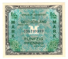 Germany Allied Occup. 1/2 Mk. 1944. P-191a. UNC. - [ 5] 1945-1949 : Allies Occupation