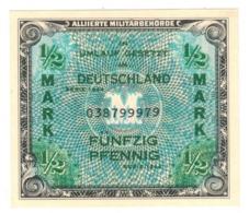 Germany Allied Occup. 1/2 Mk. 1944. P-191a. UNC. - [ 5] Ocupación De Los Aliados