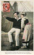 FRANCE -  La Moutte La-bas, Qui Vole A Tire-d'ailes - Reviendra Te Porter Bientot De Mes Nouvelles - 1908 - Parejas