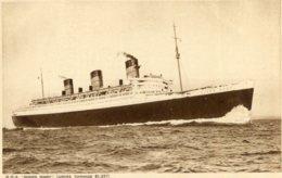 UNITED KINGDOM - RM Steamship Queen Mary - Cunard Line Tonnage 81,237 - RPPC - Paquebote