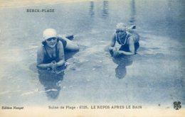 FRANCE - Berck-Plage.  Scene De Plage Les Repos Apres Le Bain - Bathing Beauties! - Berck