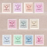 1965 Nr PRE758-68** Zonder Scharnier.Heraldieke Leeuw (58).Opdruk 1965.OBP 97 Euro. - Préoblitérés